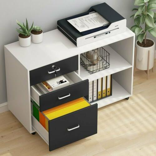Tribesigns 3 File Cabinet Modern Office Lateral
