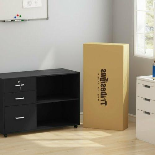 Tribesigns Drawers File Cabinet Modern Home Office Lateral Mobile