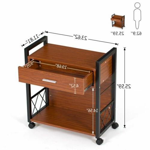 multifunctional lateral file cabinets printer stand
