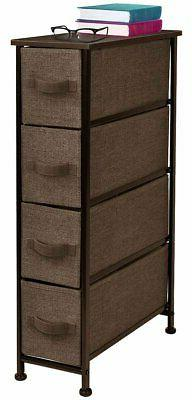 Sorbus Narrow Dresser Tower with 4 Drawers - Vertical Storag