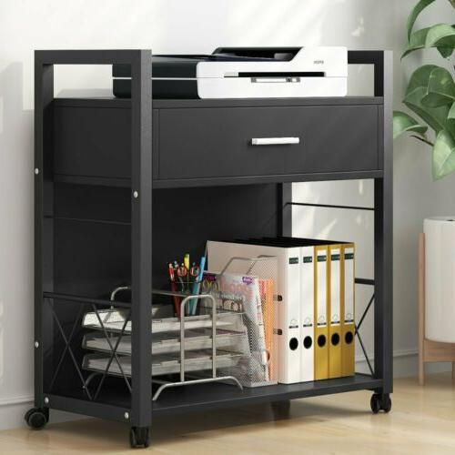 Multifunctional File Cabinets Printer Stand Drawer for Office