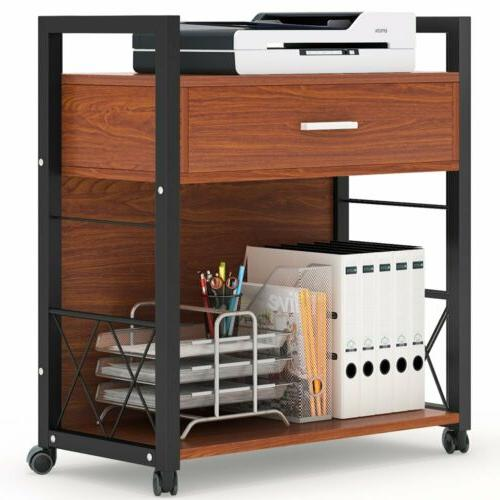 Multifunctional Printer Stand with Drawer for