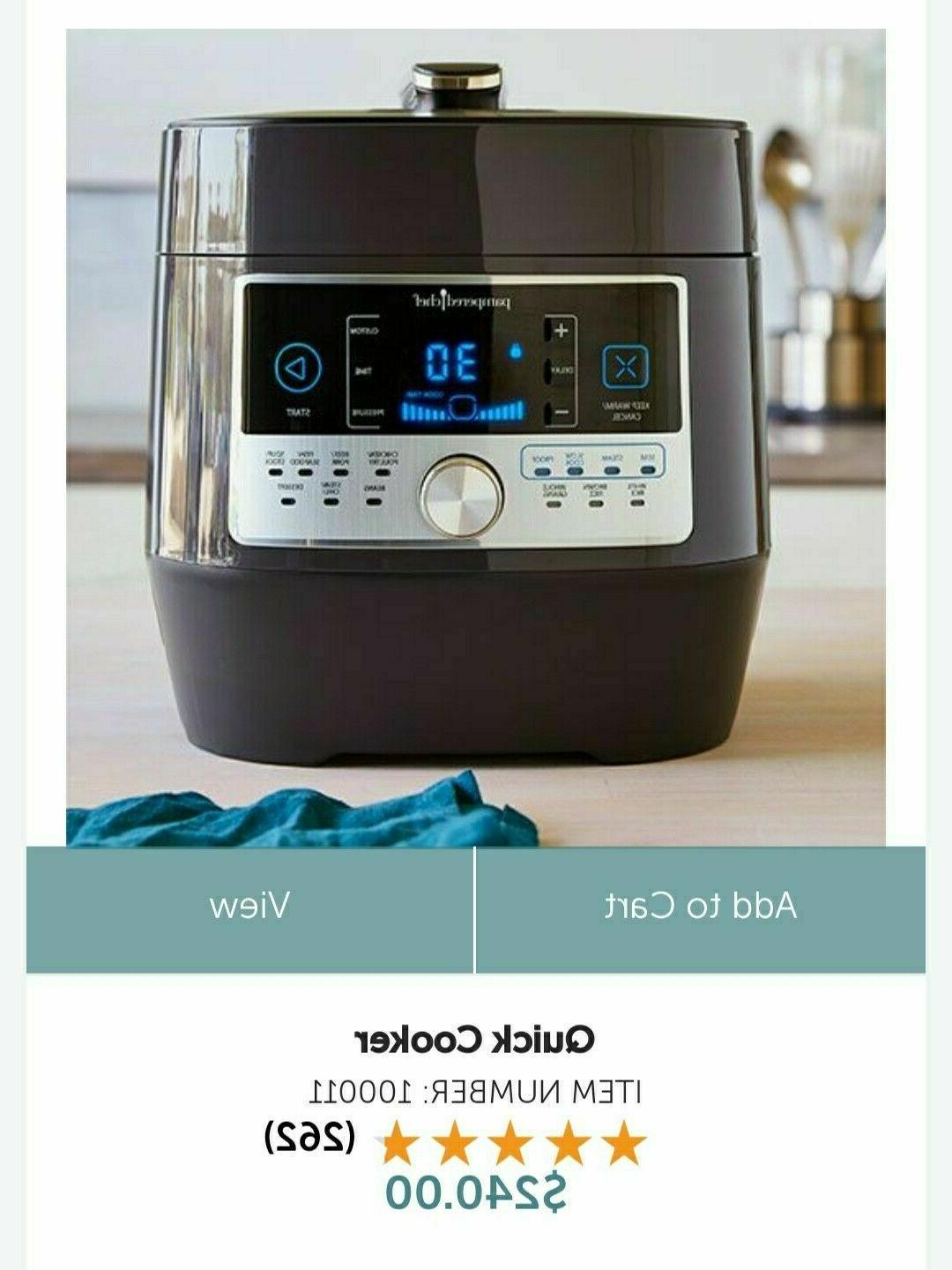 Pampered Quick Cooker BRAND In 16 FREE SHIP