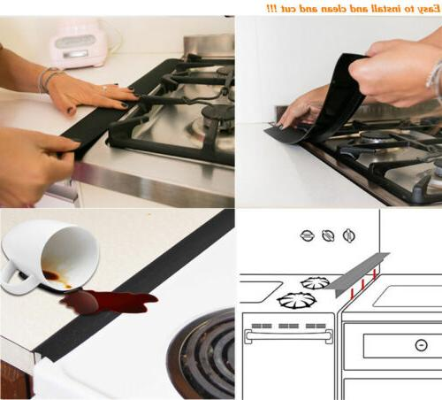 Silicone Kitchen Counter Gap Cover Spill Seal ToolS