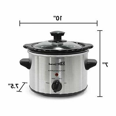 Small Slow Cooker Steel Pot Kitchen