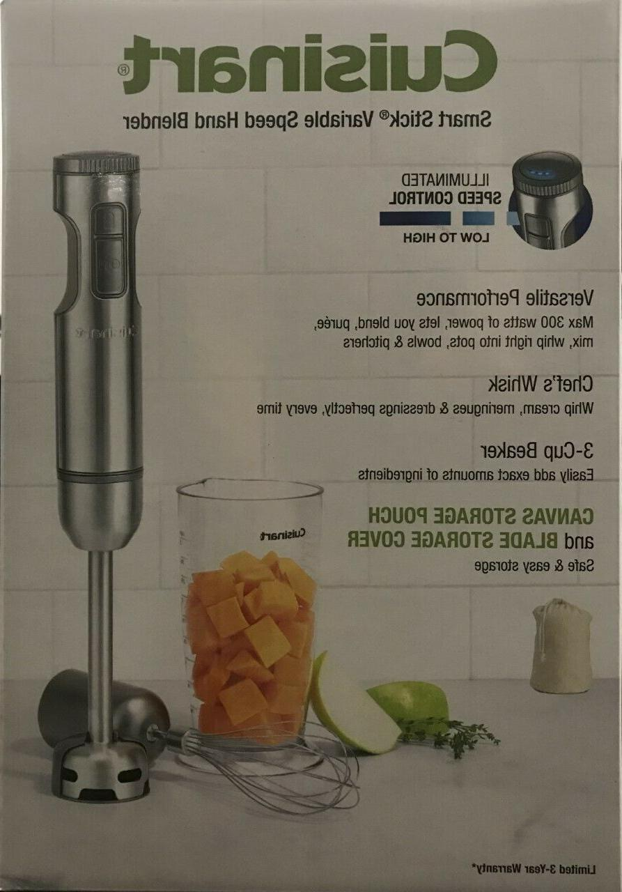Cuisinart Smart Stick Variable Speed Hand Blender w/ Whisk &