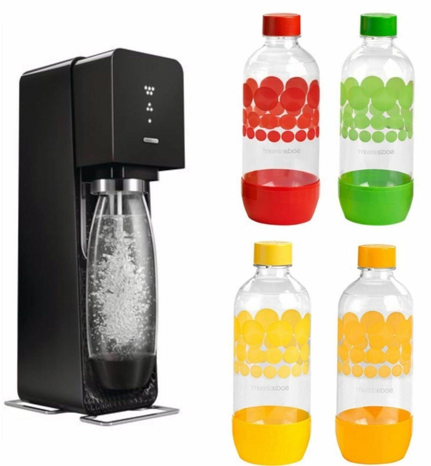 source sparkling water maker starter kit black