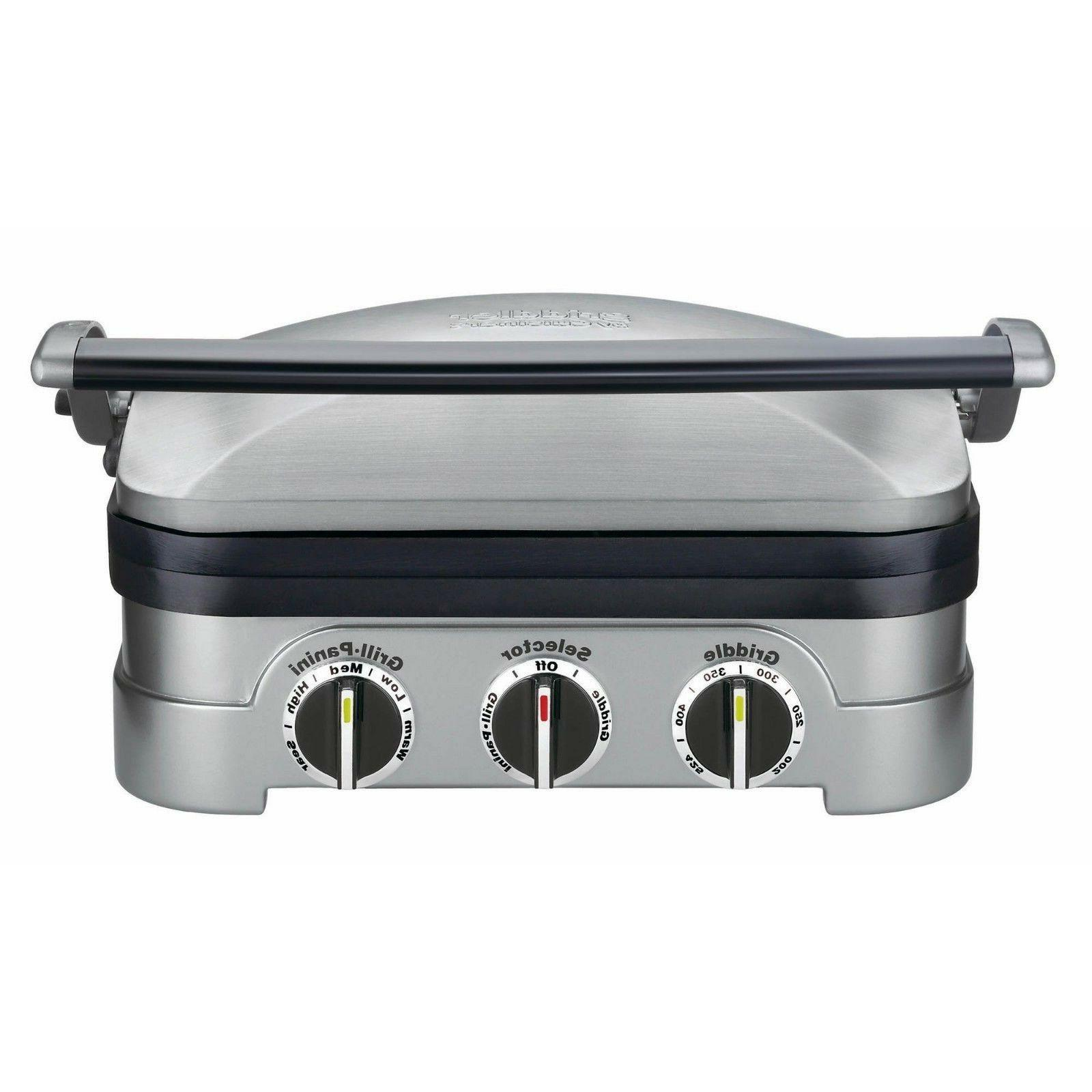stainless griddler 5 in 1 countertop kitchen