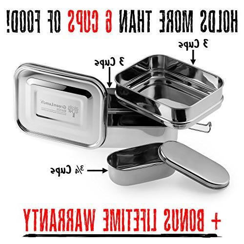 Stainless Steel 6 of + Insert Steel   ECO-Safe Healthy   Perfect for