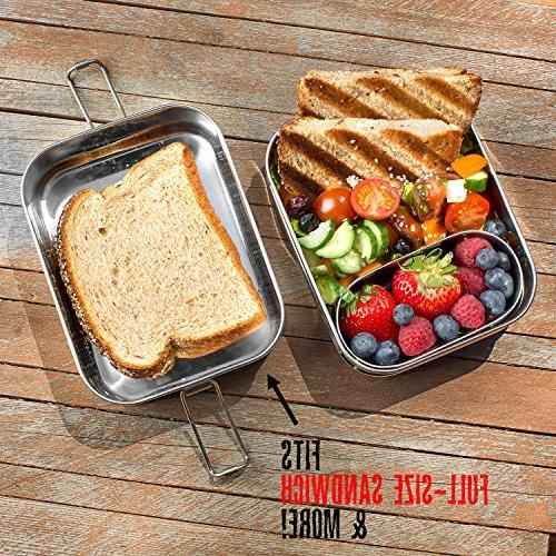 Lunch LIFE-TIME WARRANTY   6 Cups of + Pod   TOP-GRADE Durable Steel   ECO-Safe Healthy both
