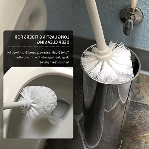 Stainless Brush Holder with Matte Household Bathroom Accessory