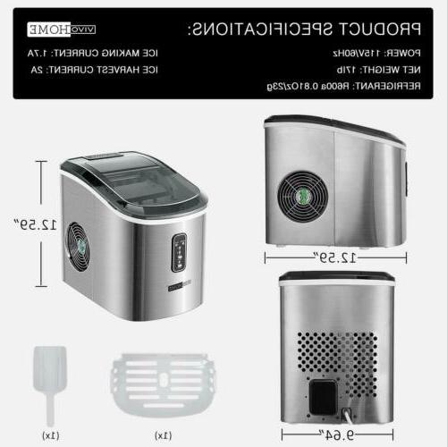 VIVOHOME Ice Cube Compact Machine
