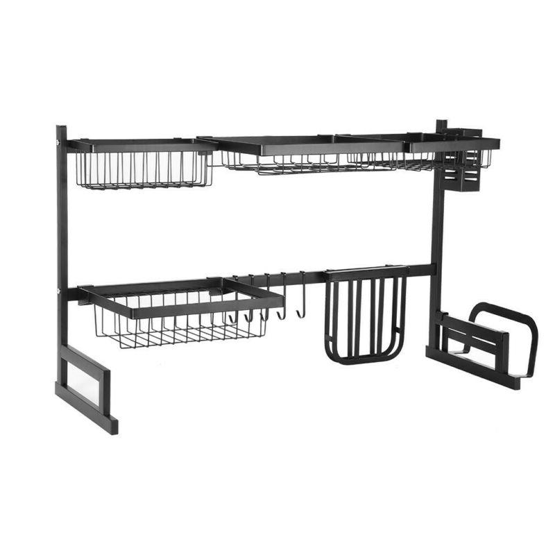 Kitchen Dish Cup Drying Rack Holder Drainer Dryer Stainless Steel