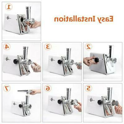 Stainless White 2800W Home Appliances Electric Meat Grinder Kitchen