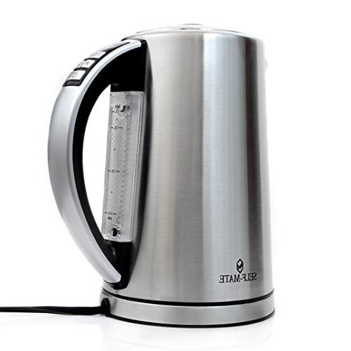 Self-Mate Control Hot Water Variable Temp Kitchen for Over & Cocoa Cup 1.7L Auto Boil