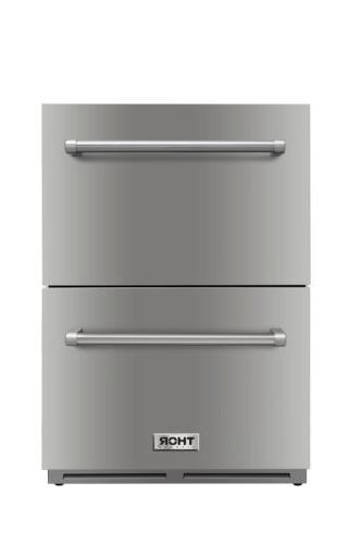 Thor Kitchen 24 in Double Drawer Under Counter Refrigerator