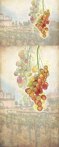 Tuscan Grapes Appliance Art Decorative Magnetic Dishwasher F