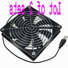 LOT 2 x Multipurpose Quiet 120mm USB Fan for Receiver DVR PS