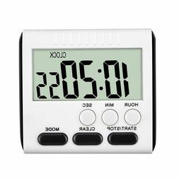 LCD Digital Large Kitchen Cooking Timer Count-Down Up Clock