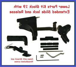 Lower Parts Kit Glock 19 with Polymer Trigger+Extended Slide