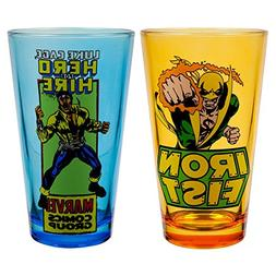 Marvel Luke Cage and Iron Fist Pint Glass 2-Pack