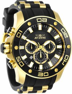 Invicta Men's Pro Diver Chrono 100m Gold-Tone S. Steel Silic