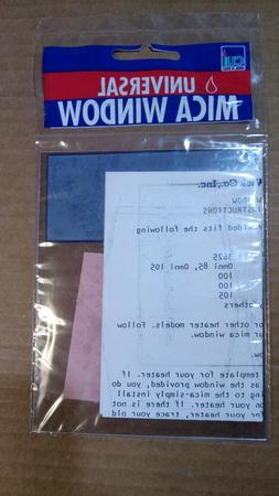 """Mica window 4'' x 5"""" for Perfection heaters, KOGY heaters, s"""