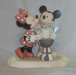 Mickey Mouse Minnie Precious Moments BBQ Disney Kiss The Coo