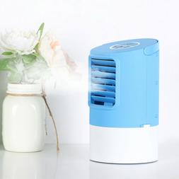 Mini Air Conditioner Mini fan Blue Humidifier Portable Fan T