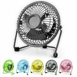 Mini Portable Super Quiet USB Desk Fan Home Office Electric