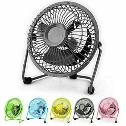 Mini Portable Super Quiet USB Desk Fans Home Office Electric