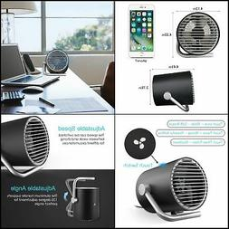 Mini Powered Desk Fan Ac Electric and Usb plug in Small Quie