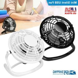 Mini USB Desk Fan Super Quiet Portable Cooling Air Cooler Fo