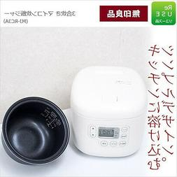 MUJI MJ-RC3 Rice Cooker Cook W/Place Rice Paddle  3Cup F/S