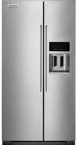 KitchenAid Monochromatic Stainless Steel Side By Side Refrig