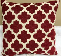 Brentwood Originals Moroccan Trellis Throw Pillow RED