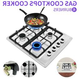 "New 23.2"" Stainless Steel Cooktop Built-in Stove Natural Gas"