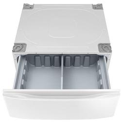 """New Samsung 30"""" Washer and Dryer Laundry Pedestals in White"""