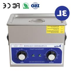 New 3L Ultrasonic Cleaner Stainless Steel Industry Heated He