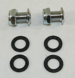"""NEW Chrome 3/8"""" Air Vent Set Of 2 & Gaskets Washers for Bass"""