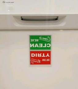 NEW! Funny Clean / Dirty Dishwasher Laminated STRONG Magnet