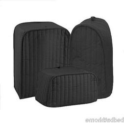 NEW Ritz Quilted Solid Black Appliance Cover