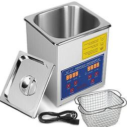 New Stainless Steel 2 Liter Industry Heat Ultrasonic Cleaner