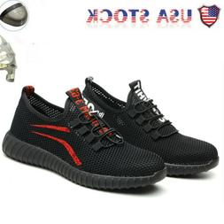New Women's Breathable Work Boots Safety Shoes Steel Toe Cap