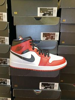 Nike Air Jordan 1 Mid Chicago  Gym Red White Black 554724 17