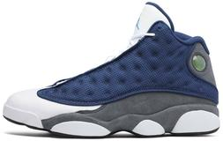 Nike Air Jordan 13 Retro 'Flint' 2020 Navy White Grey Authen