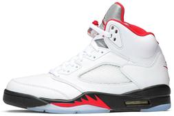 Nike Air Jordan 5 Retro Fire Red Silver Tongue  Authentic Me
