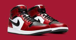 Nike New Air Jordan 1 Retro Mid Chicago Black Toe GS/Men Siz