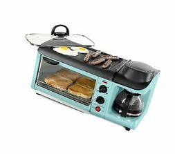 Nostalgia BSET300BLUE Retro Series 3-in-1 Family Size Breakf