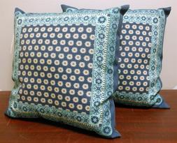 "Brentwood Originals 17"" 'Blue Scarf' Sonoma Outdoor Pillows"